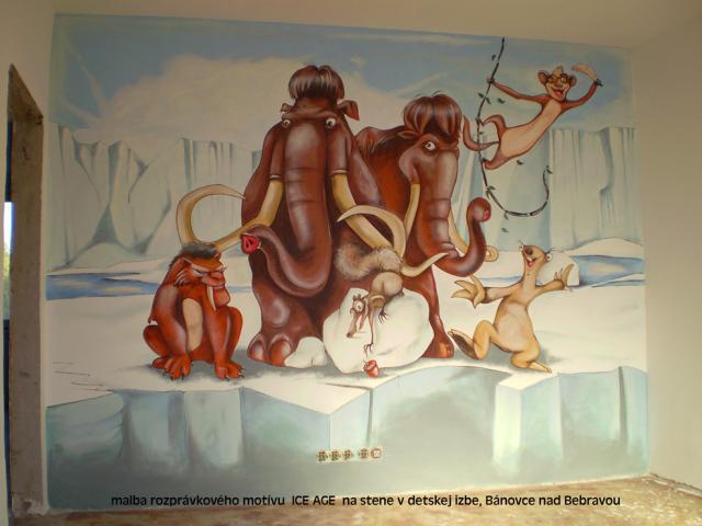 nová malba ICE AGE do detskej izby
