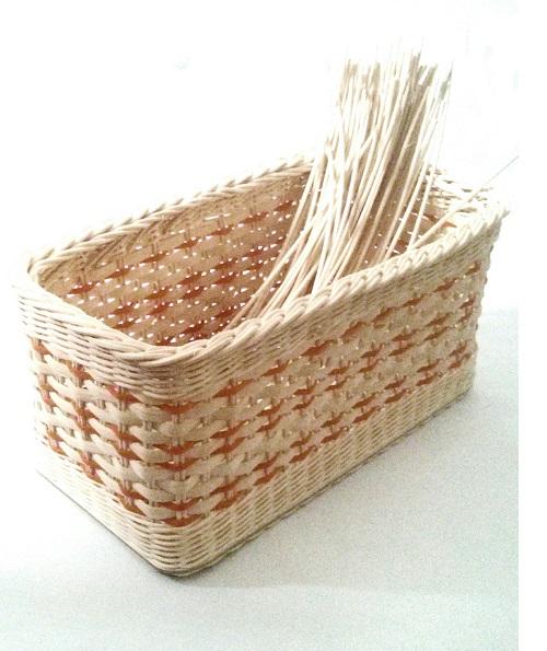 Pedigové košíčky od Ribiššky - oranžovo prírodný