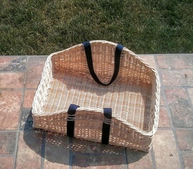 pedigový Ribišška košík na drevo