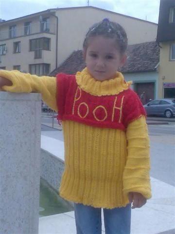 """Roláčik """"Winnie The Pooh!"""" pre päťročnú slečnu (na foto moja Sisi)"""